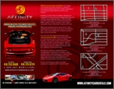 2011 Affinity Luxury Exotic Car Rental Flyer