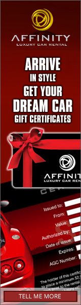 Gift Certificate Rent your Toronto Dream Car Today