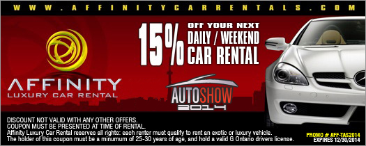 12222 Canadian International Auto Show (February 15-24, Toronto) - Discount Tickets